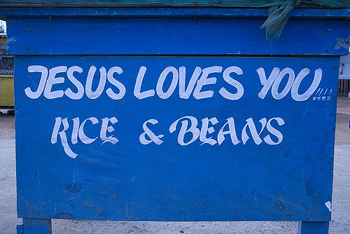 Jesus Loves You Rice and Beans